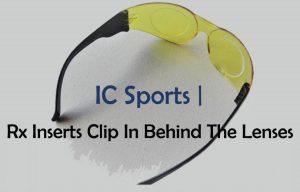 Prescription Inserts Clip Behind Lens IC Sports 3