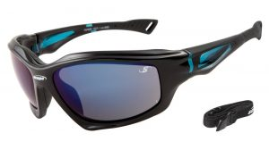 polarized sunglasses with 100% UV protection blue mirror