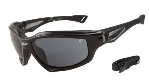 hard-coated polarized sports sunglasses with 100% UV protection smoke