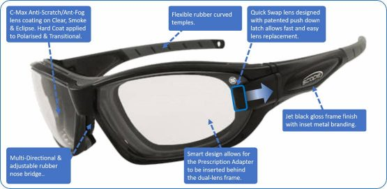 The ultimate in multi-function sport sunglasses Genisys 2