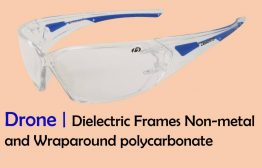 dielectric Non-metal and wraparounds polycarbonate frame