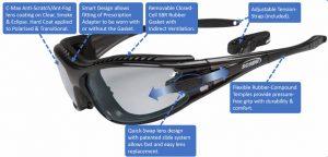sport sunglasses add on prescriptions lenses slideshield 2