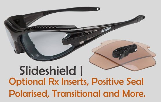 Transition sunglasses - prescription | slide shield