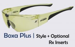 Sports eyewear with an optional prescription insert