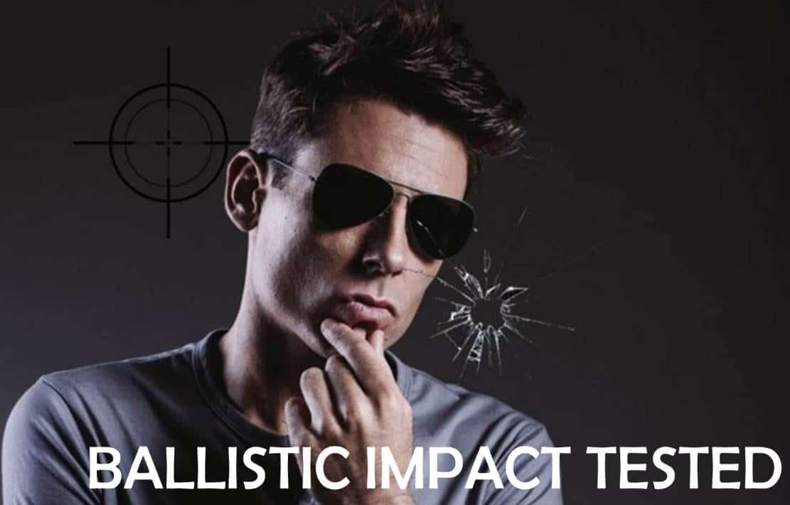 Ballistic tested shooting glasses